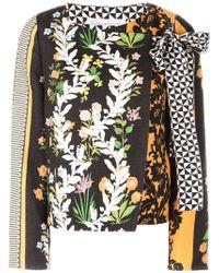 Oscar de la Renta - Floral Print Fitted Jacket - Lyst