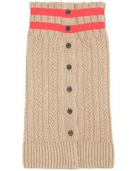 Jil Sander - Stripe Cable-knit Scarf - Lyst