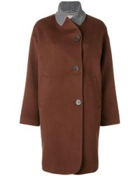 Peserico - Off-centre Button Coat - Lyst