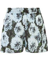 Fleur du Mal - Floral Print Shorts - Lyst