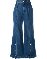 Vivetta - Heart Button Wide Leg Jeans - Lyst