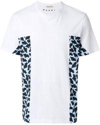 Marni - Print Panelled T-shirt - Lyst