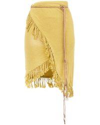 Caravana - Fringed Wrap Skirt - Lyst
