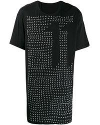 ec8041ee3f2 Boris Bidjan Saberi 11 - Printed Long Length T-shirt - Lyst