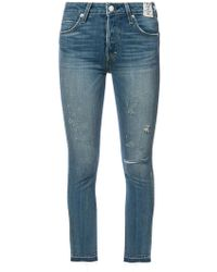 AMO | Cropped Skinny Jeans | Lyst