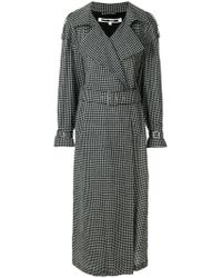 McQ - Checked Printed Coat - Lyst