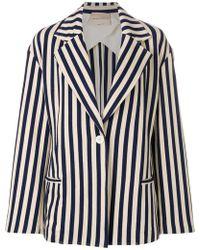Erika Cavallini Semi Couture - Striped Oversized Jacket - Lyst