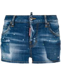 DSquared² - Denim Shorts - Lyst