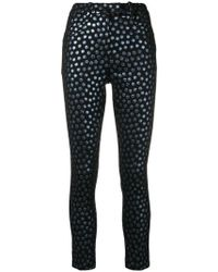 Dondup - Circle Embroidered Skinny Trousers - Lyst