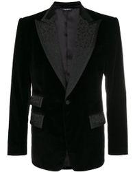Dolce & Gabbana - Blazer à empiècements en brocart - Lyst