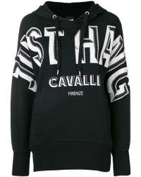 Just Cavalli - Logo Print Hoodie - Lyst