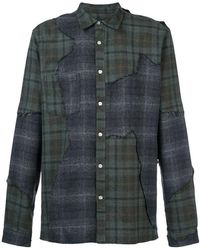 Mostly Heard Rarely Seen - Distressed Plaid Shirt - Lyst