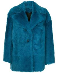 Calvin Klein - Luxe Toscana Shearling Coat - Lyst