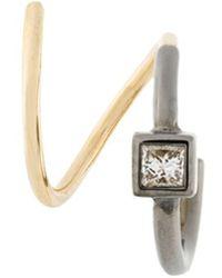 Maria Black - Ava Noir Twirl Diamond Earring - Lyst