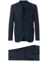 Mp Massimo Piombo - Checked Two Piece Suit - Lyst