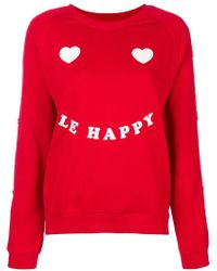Zoe Karssen - Le Happy Printed Pullover - Lyst