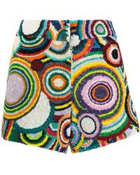 Manish Arora - Circle Pattern Sequin Shorts - Lyst