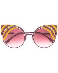 Fendi | 'hypnoshine' Fashion Show Sunglasses | Lyst