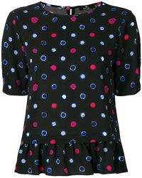 PS by Paul Smith - Circle Pattern Frilled Blouse - Lyst