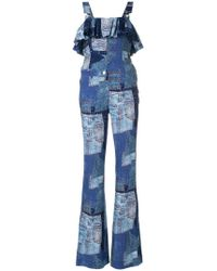 Moschino - Ruffled Patch Detail Jumpsuit - Lyst