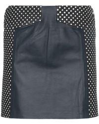 SKIIM - Sofia High-waisted Polka Dot Leather Skirt - Lyst
