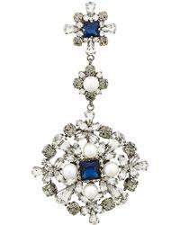 Ermanno Scervino - Pearl Gemstone Embellished Brooch - Lyst