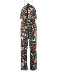 Aidan Mattox - Floral Print Jumpsuit - Lyst