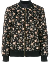 Ashish - Floral Embroidered Bomber Jacket - Lyst