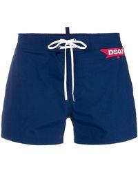 DSquared² - Shorts de baño con parche DSQ2 - Lyst