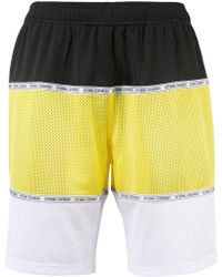 Opening Ceremony - Colour Block Perforated Shorts - Lyst