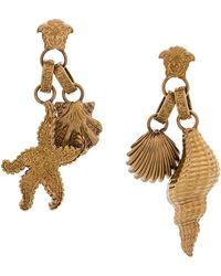 Versace - Seashell Medusa Earrings - Lyst