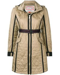 HUNTER - Quilted Zipped Coat - Lyst