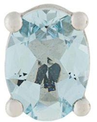 Delfina Delettrez - Dots Solitaire Aquamarine Earring - Lyst