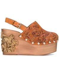 RED Valentino - Sling-back Wedge Sandals - Lyst