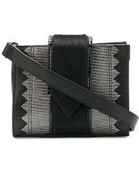 Just Cavalli - Snake Embossed Panelled Belt Bag - Lyst