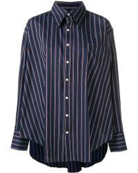 fea5d37ea478da Matthew Adams Dolan Oversized Draped Shirt in Red - Lyst