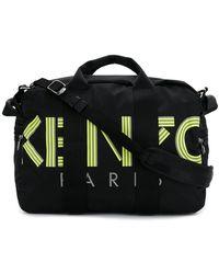 9505c813d511 Lyst - EA7 48l Logo Printed Nylon Canvas Duffle Bag in Black for Men