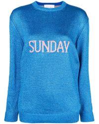 Alberta Ferretti - Sunday Intarsia Knit Sweater - Lyst