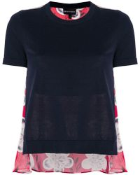 Emporio Armani - Cropped Fine Knit Top - Lyst