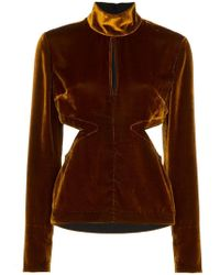 Marques'Almeida - Cut-out Velvet Top - Lyst