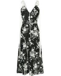 Goen.J - Fringed Floral Printed Dress - Lyst
