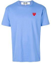 Play Comme des Garçons - Comme Des Garçons Play Heart Patch T-shirt - Lyst