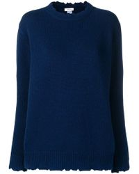 Avant Toi - Distressed Crew Neck Sweater - Lyst
