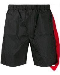 Xander Zhou Layered Asymmetric Shorts - Black