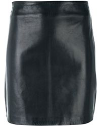 Manokhi - Fitted Leather Skirt - Lyst