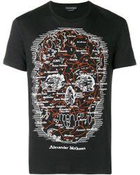 Alexander McQueen - Map Skull T-shirt - Lyst