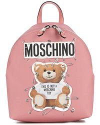 Moschino - Teddy Bear Pink Backpack - Lyst