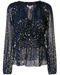 MICHAEL Michael Kors - Printed Flated Loose Blouse - Lyst
