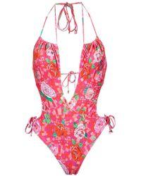 Amir Slama | Floral Print Swimsuit | Lyst