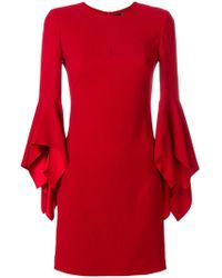Karl Lagerfeld - Fitted Dress W/ Ruffled Cuffs - Lyst